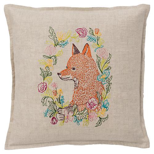 Garland 12x12 Pillow, Linen