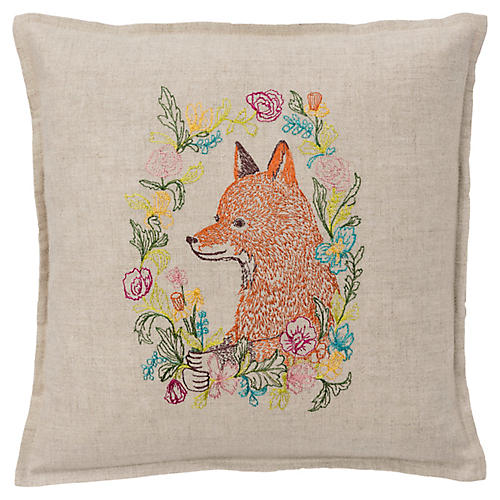 Garland 12x12 Pillow, Linen