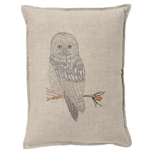 Great Gray 12x16 Pillow, Linen