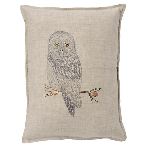 Great Gray 12x16 Pillow, Linen