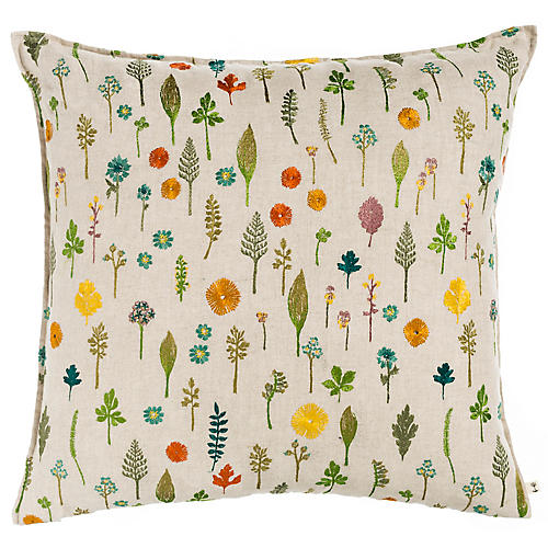 Garden 20x20 Pillow, Natural Linen