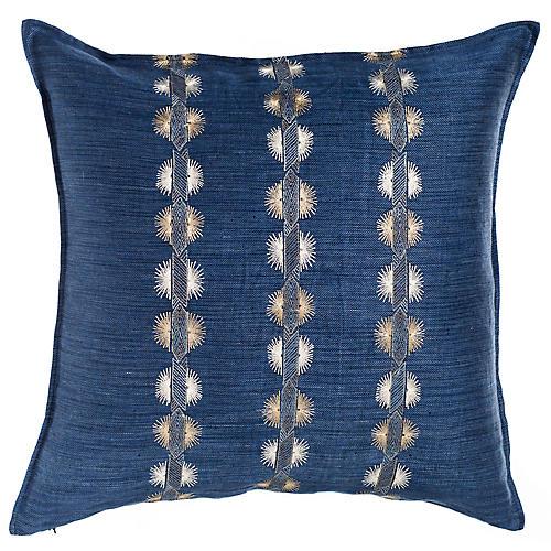Souk 20x20 Pillow, Indigo Linen