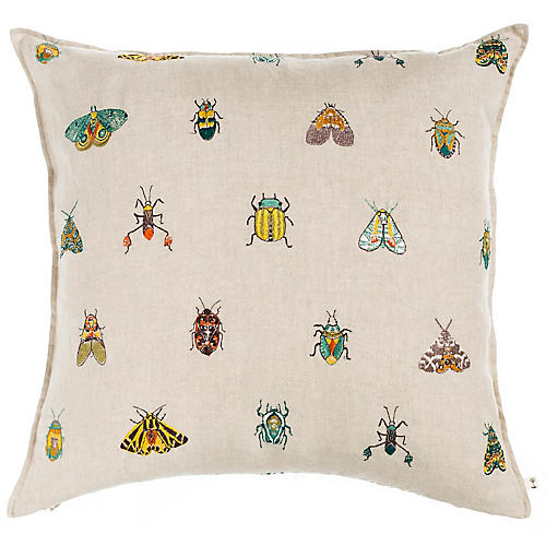 Wings 20x20 Pillow, Natural Linen