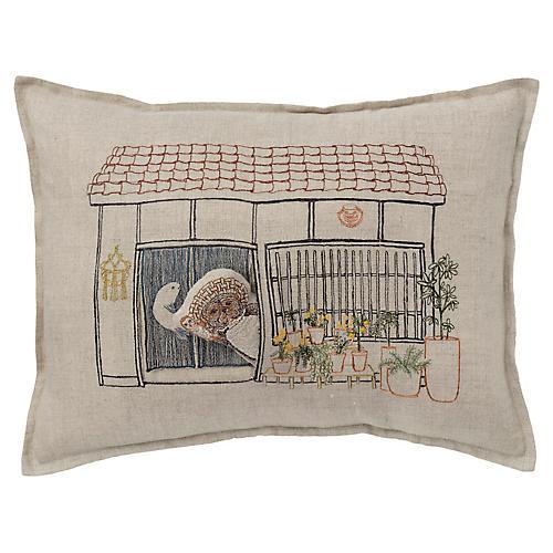 Raccoon's Abode 12x16 Pocket Pillow, Linen