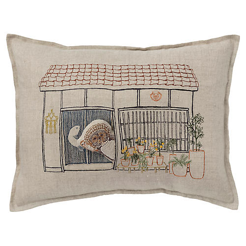 Raccoon's Abode 12x16 Pocket Pillow, Linen