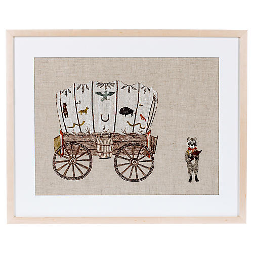 Wagon and Raccoon