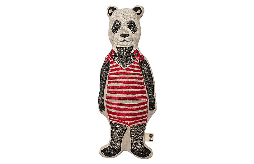 Panda 10x3 Pocket Doll - Coral & Tusk