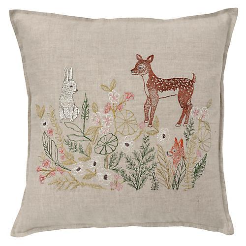 Meadow Friends 16x16 Pillow