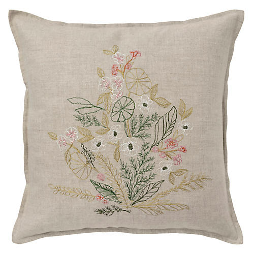 Meadow Blossoms 16x16 Pillow