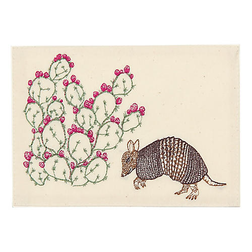 Armadillo & Prickly Pear Note Card