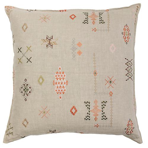Tumbleweed 24x24 Pillow, Beige Linen