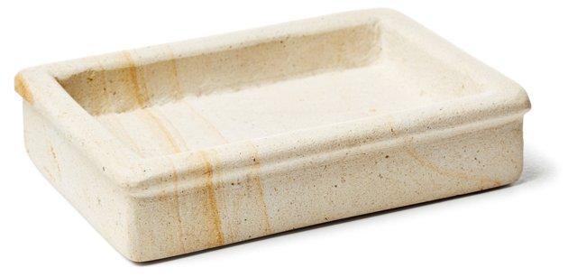 Woodstone Soap Dish, Natural