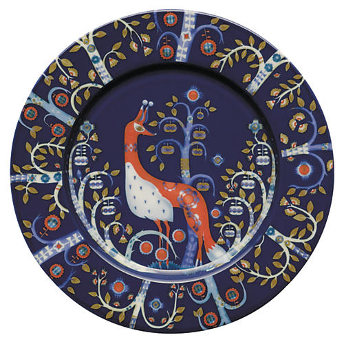 "Taika 8.75"" Salad Plate, Blue/Multi"
