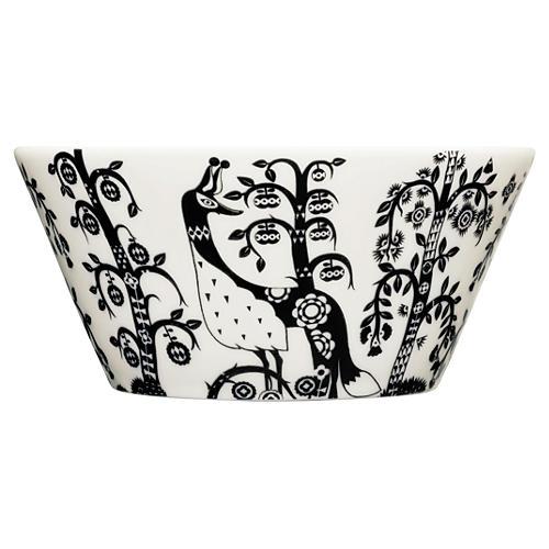 Taika 22.5 Oz Pasta Bowl, White/Black