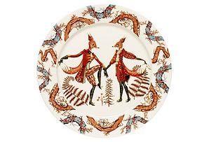 "Tanssi 10.6"" Dinner Plate, White/Multi*"