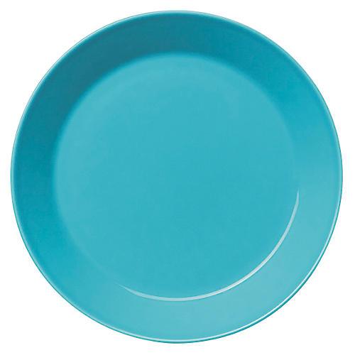 """Teema 8.5"""" Salad Plate, Turquoise"""