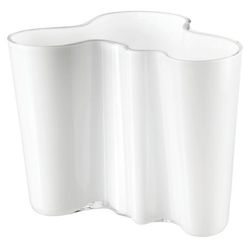 "8"" Aalto Glass Vase, White"