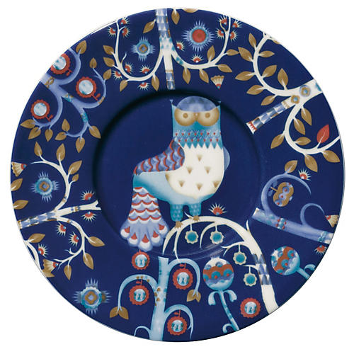 Taika Coffee Saucer, Blue