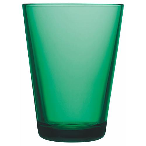 S/2 Large Kartio Tumblers, Emerald