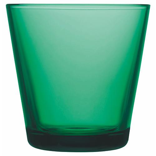 S/2 Small Kartio Tumblers, Emerald