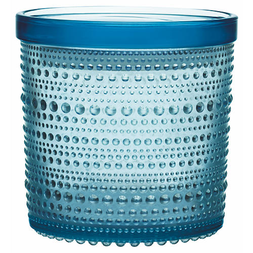 Kastehelmi Large Jar, Light Blue