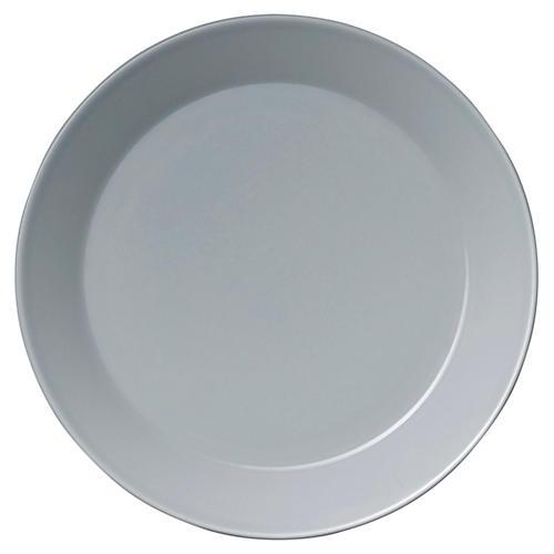 "Teema Pearl Gray Plate, 10.25"""
