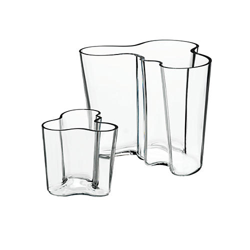 S/2 Aalto Vases, Clear