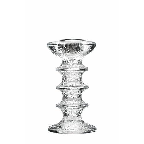 Festivo Candleholder, Clear/Silver