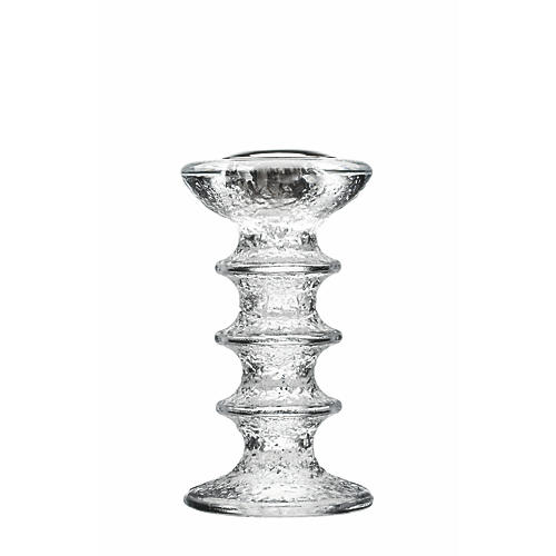 Festivo Candleholder, Clear/Silver