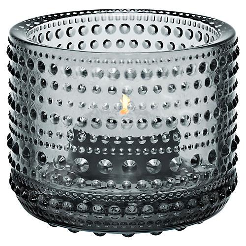 """3"""" Kastehelmi Tealight Candleholder, Gray"""