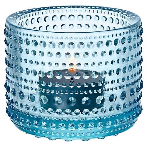 "3"" Kastehelmi Tealight Candleholder, Light Blue"