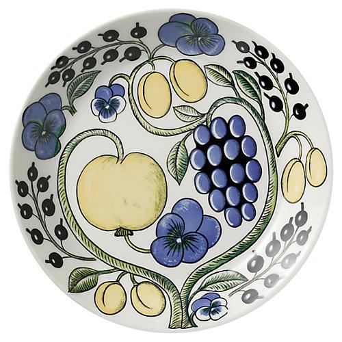 Paratiisi Salad Plate, White/Multi