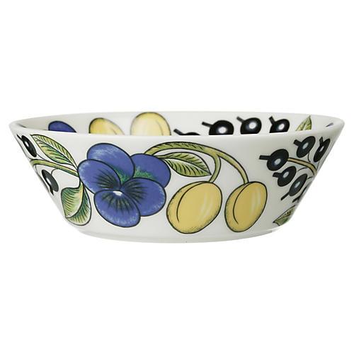 Paratiisi Bowl, White/Multi