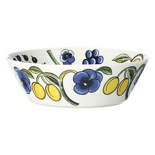 Paratiisi Serving Bowl, White/Multi