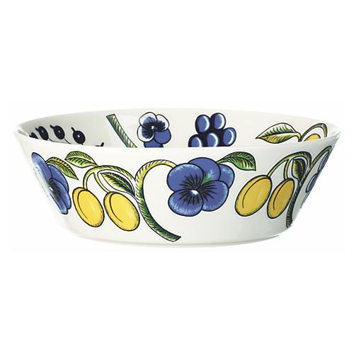 Paratiisi Serving Bowl, White/Multi