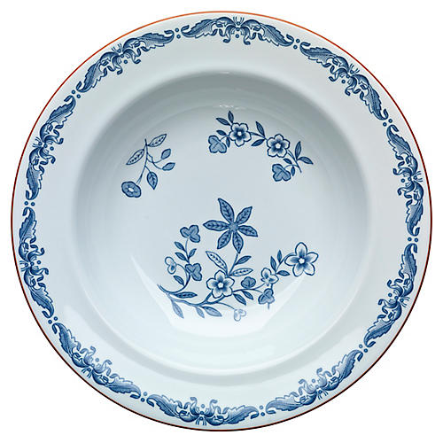 Ostindia Soup Bowl, Blue/White