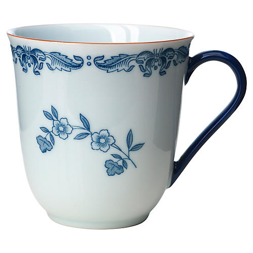 Ostindia Coffee Mug, Blue/White