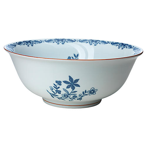 Ostindia Salad Bowl, Blue/White