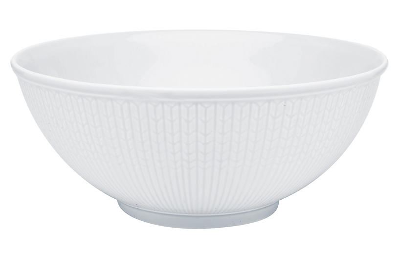 Swedish Grace Serving Bowl, Snow