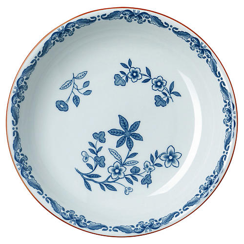 Ostindia Pasta Bowl, Blue/White