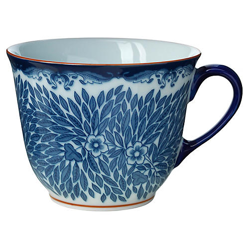Ostindia Floris Mug, White/Blue