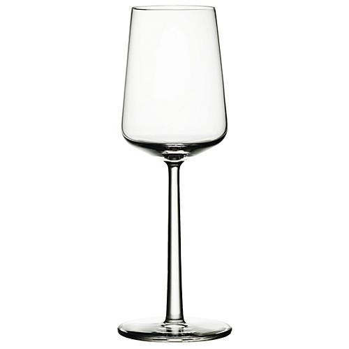 S/2 Essence White-Wine Glasses, Clear