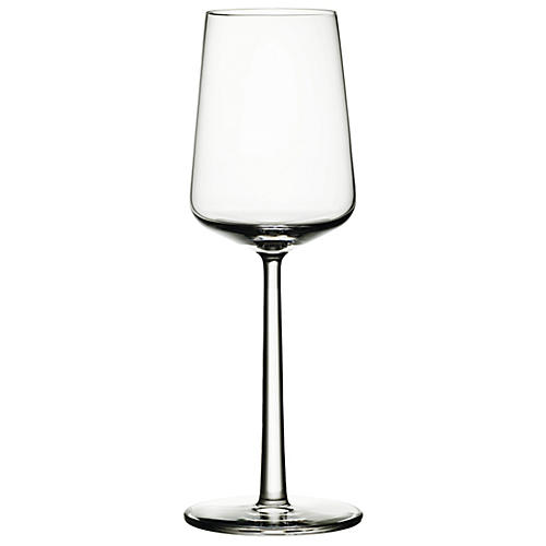S/2 Essence White-Wine Glasses, Clear