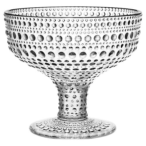 Kastehelmi Footed Bowl, Clear