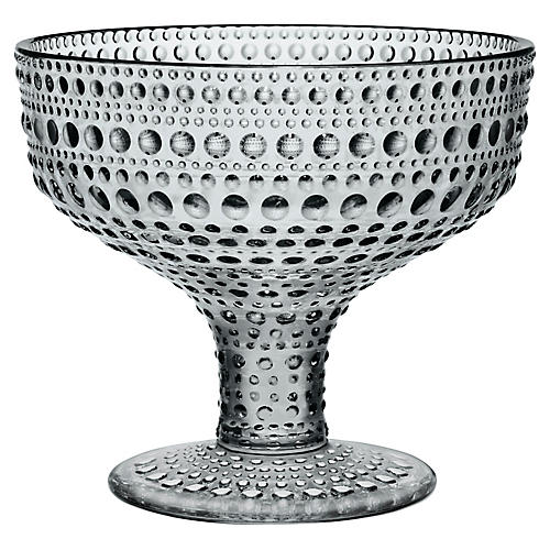 Kastehelmi Footed Bowl, Gray