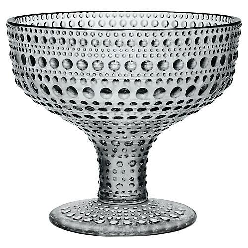 Kastehelmi Footed Bowl, Gray
