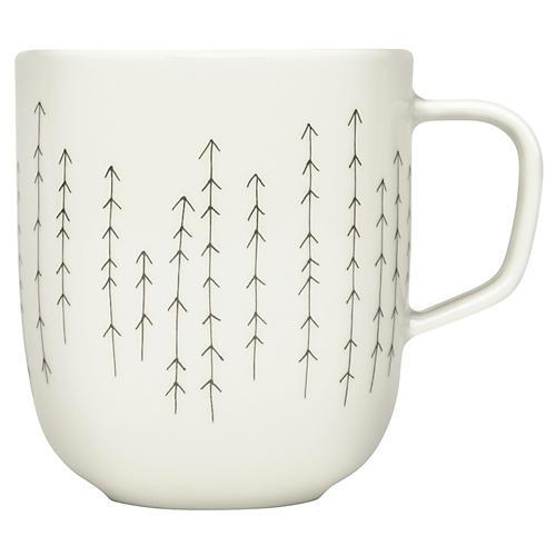 Sarjaton Mug, Metsa White