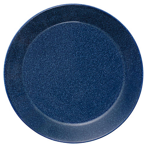 Teema Bread Plate, Dotted Blue