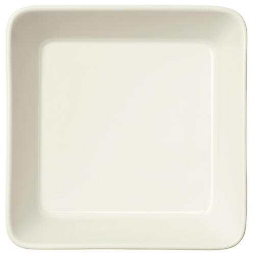 Teema Square Dinner Plate, White
