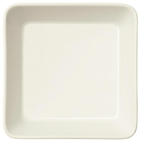 Teema Square Dinner Plate, White